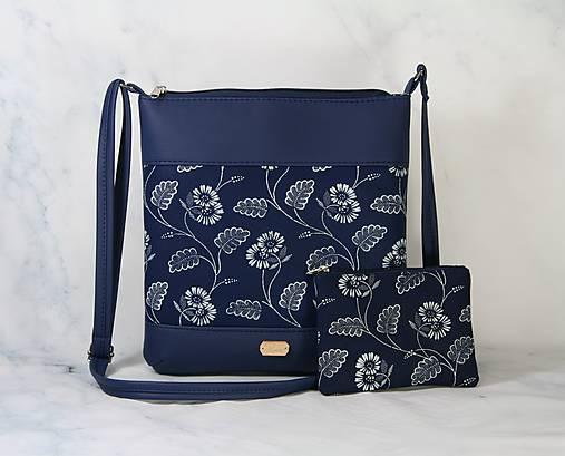 modrotlačová kabelka Dara modrá XL set 1