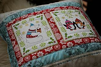 Úžitkový textil - vankúšik Vianoce za polárnym kruhom - 11275875_