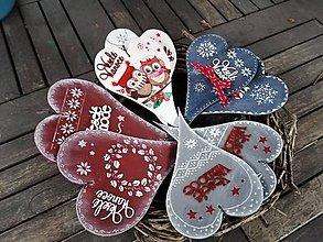 Dekorácie - Vianočné srdiečka- rôzne motívy - 11277406_