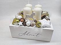 Dekorácie - Vintage adventná dekorácia zelená - 11275408_