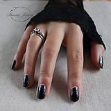 Prstene - strieborný prsteň pre rockovú princeznú - 11279058_