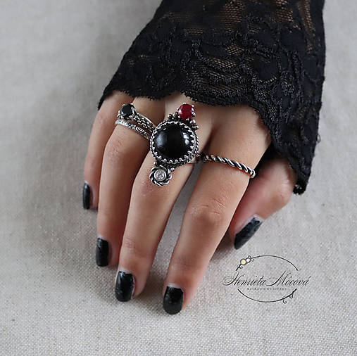 Prstene - strieborné prstene - MONOCHROM - 11279072_