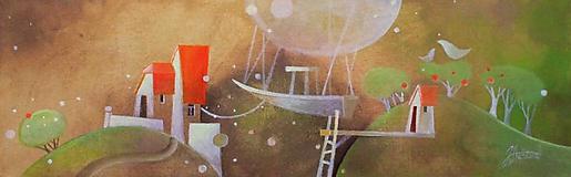 Obrazy - pyramída snov - som doma - 11283160_