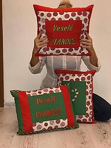 Úžitkový textil - Veselé Vianoce 3 x - 11283193_