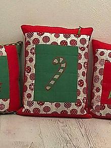 Úžitkový textil - Veselé Vianoce 3 x (s lízankou) - 11283214_