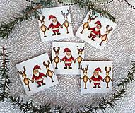 Magnetky - Santa a sobíci - 11283524_