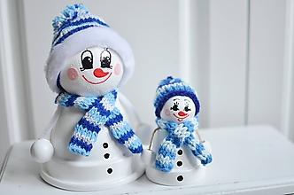 Dekorácie - Veľký modrý snehuliak - 11283606_