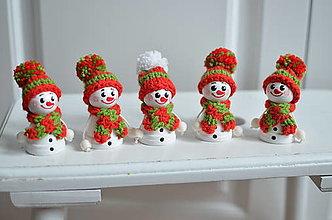 Dekorácie - Snehuliaci drobčekovia - 11283690_