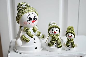 Dekorácie - Snehuliak veľký zelený - 11283762_