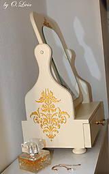 Zrkadlá - Otočné 50 cm veľké zrkadlo - Zlatý ornament - 11280639_