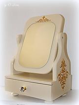 Zrkadlá - Otočné 50 cm veľké zrkadlo - Zlatý ornament - 11280641_