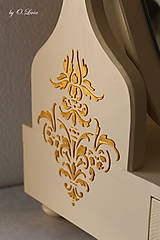 Zrkadlá - Otočné 50 cm veľké zrkadlo - Zlatý ornament - 11280644_