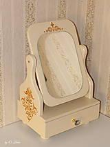Zrkadlá - Otočné 50 cm veľké zrkadlo - Zlatý ornament - 11280647_