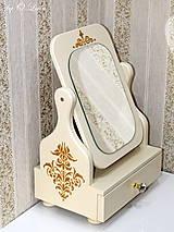 Zrkadlá - Otočné 50 cm veľké zrkadlo - Zlatý ornament - 11280648_