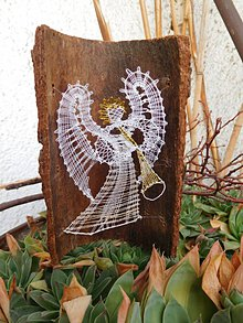 Drobnosti - anjel paličkovaný - 11281385_