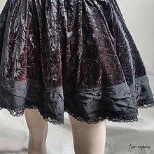 Sukne - Gotická sametová sukňa na večierok - 11280586_