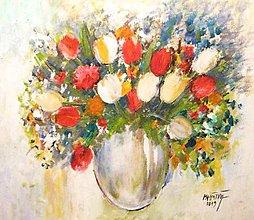 Obrazy - Kvety vo váze - 11285480_