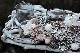 Dekorácie - Adventný svietnik - 11282608_