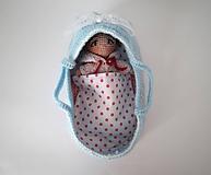 Hračky - Košík s bábikou - 11282345_