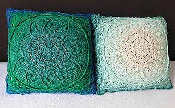 Úžitkový textil - Háčkovaný vankúš I - 11280701_
