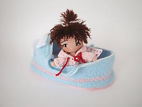 Hračky - Košík s bábikou - 11282340_