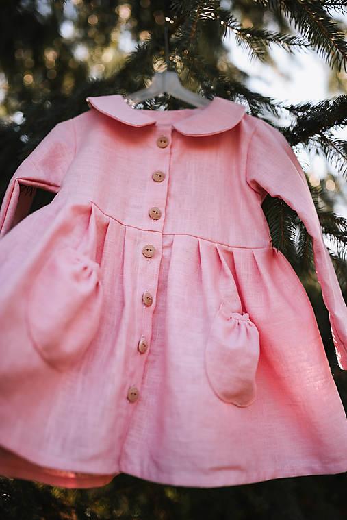 Detský ľanový kabátik