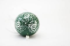 Dekorácie - Zelené dekoračné gule - 11280127_