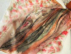 Šatky - Jednoduchost /hedvábný šátek 55x55cm/ - 11280630_