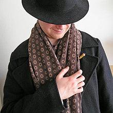 Doplnky - Gentleman, úpletový šál - 11284233_