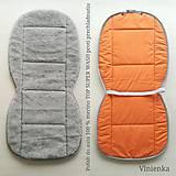Úžitkový textil - RUNO SHOP Hrejivý sedák do auta 100 % MERINO TOP FINE proti prechladnutiu a prehriatiu GREY - 11282397_