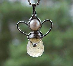 Iné šperky - Miniandílek - citrín - 11284094_