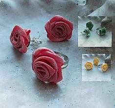 Sady šperkov - vintage sada ružičky v 3 farbách - 11283250_