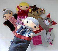 Hračky - Ako dedko repku ťahal - sada maňušiek na ruku - 11282059_