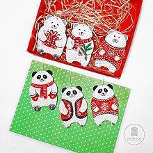 Dekorácie - Maľované vianočné ozdoby - 11285622_