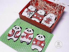 Dekorácie - Maľované vianočné ozdoby - 11285623_