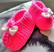 Topánočky - Detské pletené papučky - 11279524_