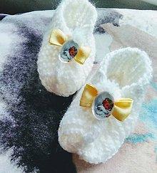 Topánočky - Detské pletené papučky - anjel - 11279572_