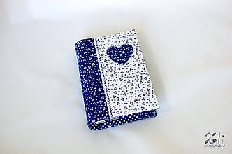 Papiernictvo - Obal na knihu kvetinkový so srdiečkom - 11285088_