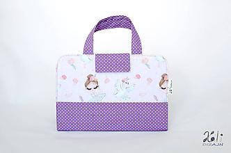 Detské tašky - Detský kufrík - pastelkovník Baletka a labuť - 11285130_