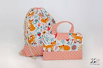 Detské tašky - Set pre škôlkara -pastelkovník a batoh Líštičky - 11285196_