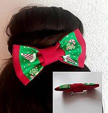 Ozdoby do vlasov - XMAS FRANCUZSKA SPONA - 11280118_