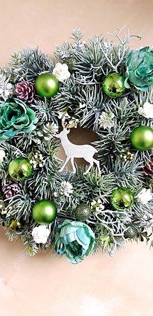 Dekorácie - Vianočný  venček jelenček - 11283590_