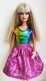 Hračky - Diamant sukňa cyklaménová pre Barbie - 11281810_