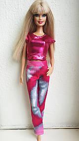 Hračky - Ružové nohavice pre Barbie - 11281876_