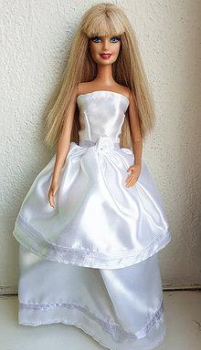Hračky - Svadobné šaty s kvietkom pre Barbie - 11279932_
