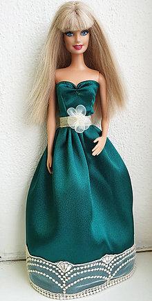 Hračky - Spoločenské šaty zelené pre Barbie - 11281943_