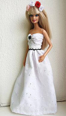 Hračky - Madeirové dlhé šaty pre Barbie - 11281983_