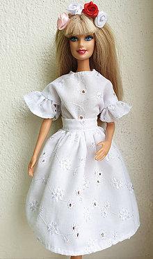 Hračky - Madeirová midi sukňa pre Barbie - 11282083_