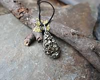 Náhrdelníky - Trblietanie (pyrit) - 11282341_