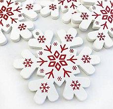Polotovary - Výrez vianočný Vločka 5 cm  (Biela) - 11284034_